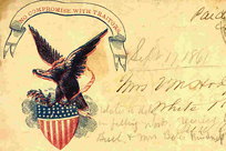 eagle and old text